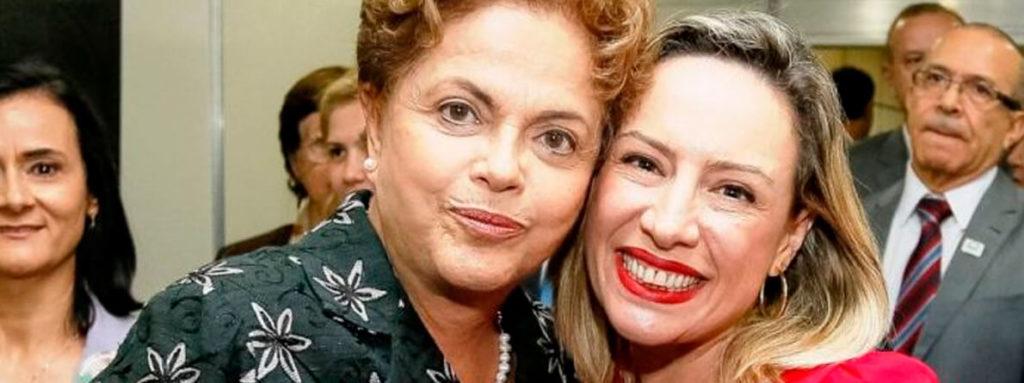 Delegada Adriana Accorsi e a presidenta Dilma Rousseff