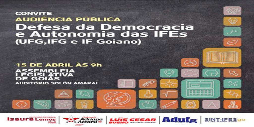 Audiência pública proposta pela Delegada Adriana Accorsi tem como tema a Defesa da Democracia