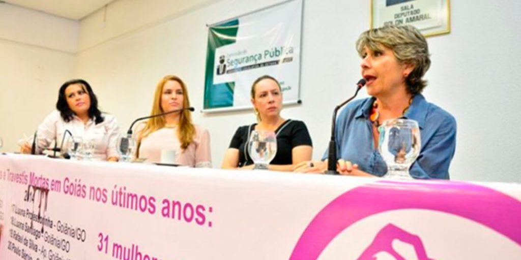 """A deputada Delegada Adriana Accorsi (PT) realizou audiência pública que discutiu o tema """"Transfeminicídio e Violência no Território Goiano"""", nesta segunda-feira, 18."""
