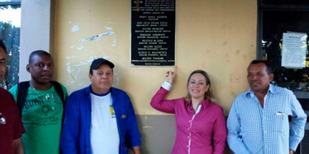 Para Adriana, foi gratificante ver muitos dos trabalhadores que cuidam da nossa cidade em ação.