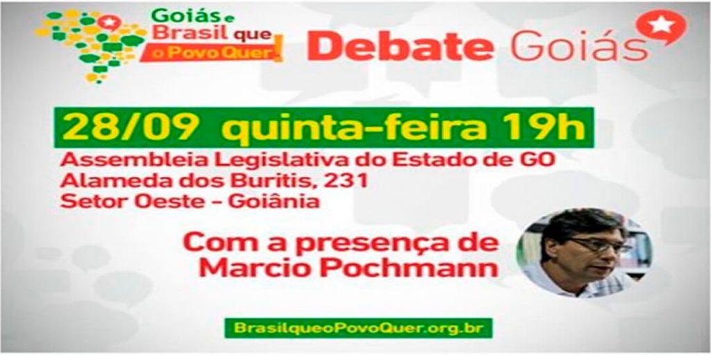 """A plataforma """"Brasil que o povo quer"""", lançada pela Fundação Perseu Abramo, será o tema do seminário que acontece nesta quinta-feira, 28, às 19 horas, no Auditório Costa Lima da Assembleia Legislativa de Goiás (Alego)."""