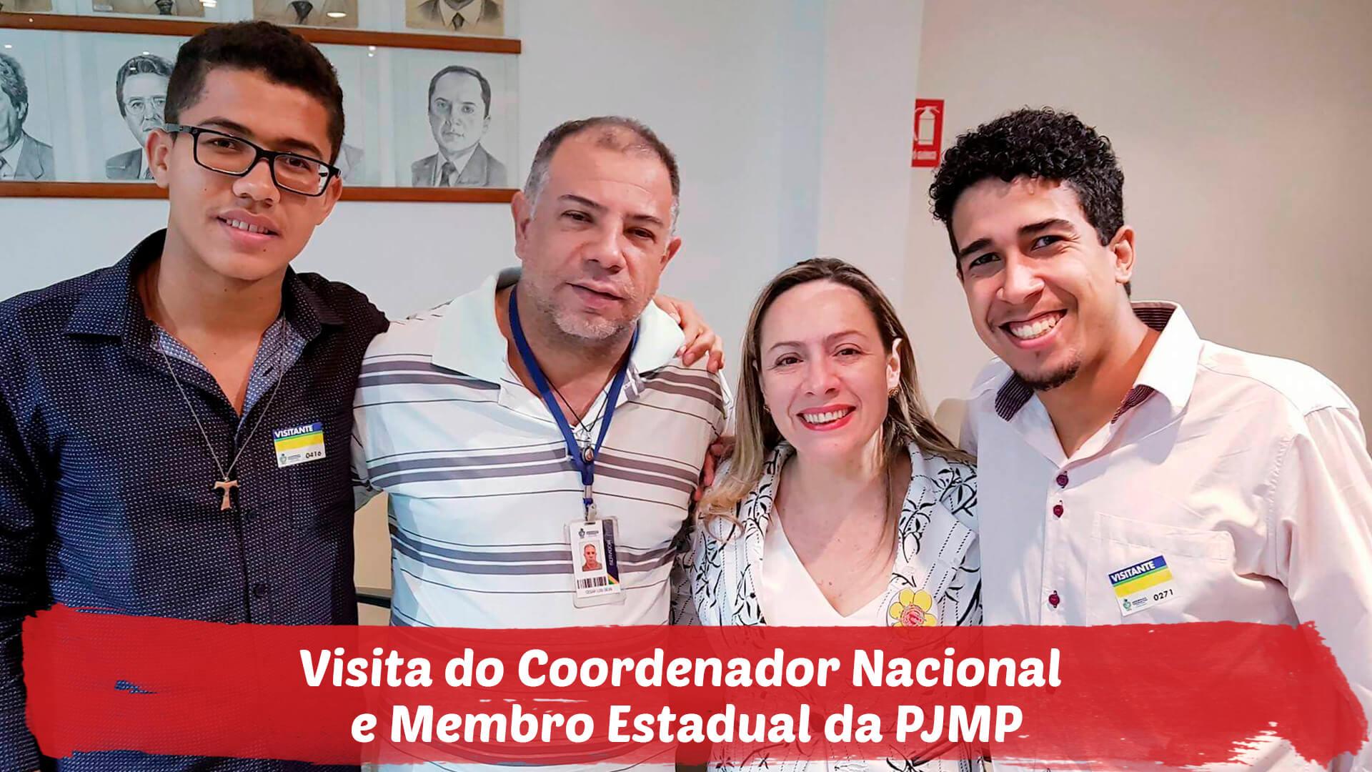 Visita do Coordenador Nacional da Pastoral da Juventude do Meio Popular(PJMP) e do membro estadual da Pastoral